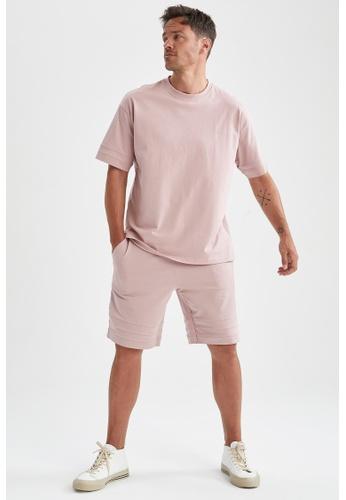 DeFacto pink Short Sleeve Oversize Cotton T-Shirt DB847AAC433CD3GS_1