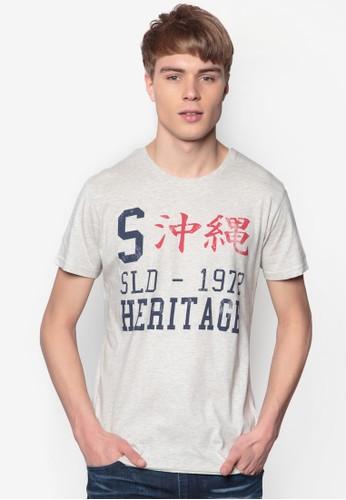Bromley 文字設計純棉TEesprit tstE, 服飾, 印圖T恤