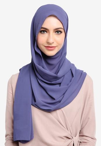 Najjah pink and purple Semi Instant Shawl 0F14DAA13B48A9GS_1