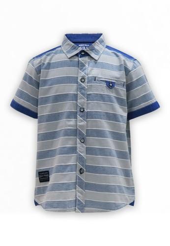 Osella Kids blue Osella Baju Anak Laki laki Kemeja Lengan Pendek Stripe Blue. 2EDA0KA6AB51A8GS_1