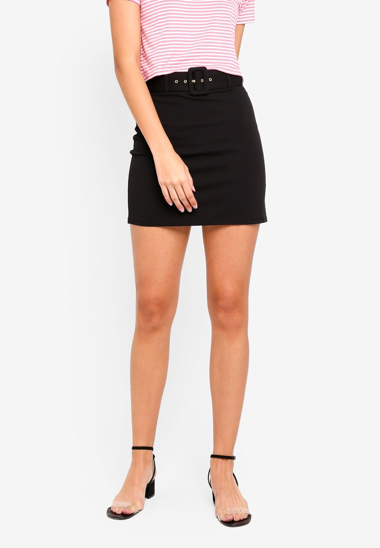 Miss Black Belted Selfridge Self Skirt rSBr6UqO