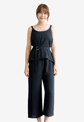 Tokichoi black Casual Tank Top and Pants Set C7D10AAAB3DC93GS_1