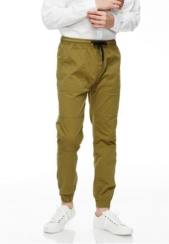 Life8 green Casual Elastic Comfortable Jogger Pants -02495-Green 02ED8AA9BCBA51GS_1