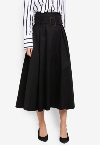Haute Kelly black Eun-Mi Midi Skirt 254A7AA0A4B57EGS_1