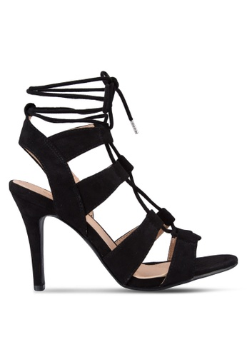 Something Borrowed black Cut Out Laced Up Heels 26FC2SH6EE1F3EGS_1
