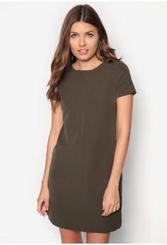Petite Khaki 60's Shift Dress