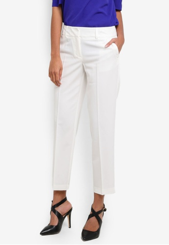 Dorothy Perkins white Ivory Split Hem Ankle Grazer Trousers DO816AA0S7BHMY_1