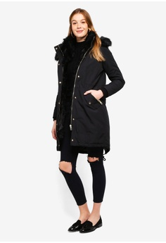45% OFF River Island Bruce Parka RM 781.00 NOW RM 429.90 Sizes 14 60b1e3464