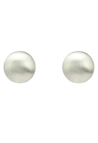 Red's Revenge silver Full Circle Matte Stud Earrings 15742ACE8989A0GS_1