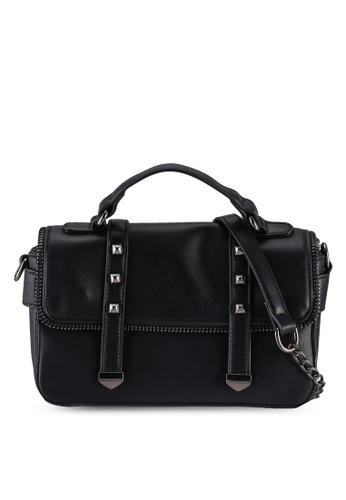 Unisa black Colour Block Convertible Top Handle Bag 1651BAC881B53FGS_1