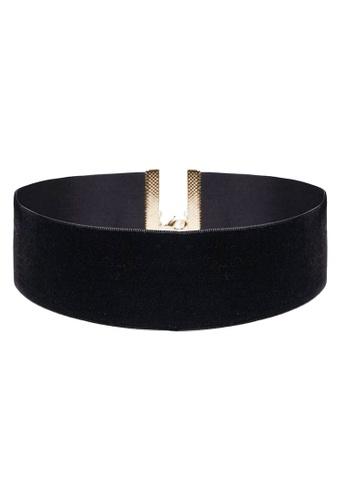 LUCCACAL black Black Wide Velvet Choker LU294AC29GVEMY_1
