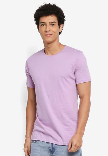 Factorie 紫色 休閒短袖素色T恤 84DC1AA2D9573EGS_1