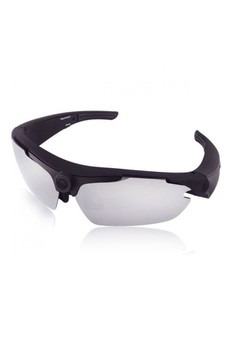Sports Sunglass With HD Video Camera - Black