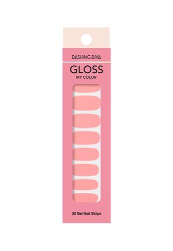 Dashing Diva pink Dashing Diva Gloss Gel Strip Manicure Salmon /Nail Sticker /Nail Wraps 60615BED2C9D2CGS_1