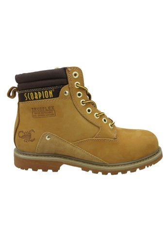 midzone yellow Genuine Leather Steel Toe Safety Boots MI949SH03WJWMY_1