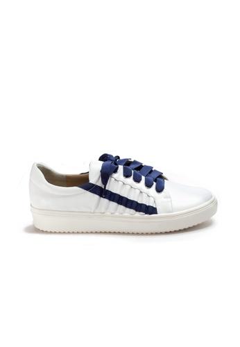 Shu Talk white Street style Ribbon Leather Sneakers 029D7SHD3CB682GS_1