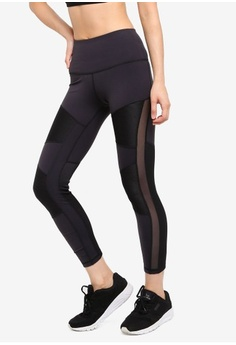 cbc7e4d89c Reebok. Studio Mid Cardio Lux High Rise Rib Tights