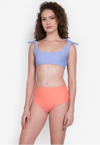 Kats Clothing orange and purple Sporty Two Piece   KA896US0KEHDPH_1
