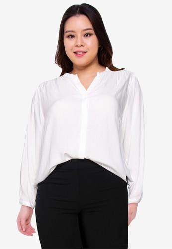 Only CARMAKOMA white Plus Size Caranita Shirt 89ECEAA55BD9DAGS_1