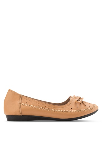 Louis Cuppers brown Ribbon Flats LO977SH34XRHMY_1