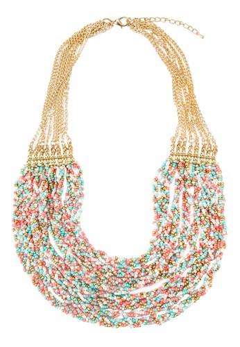 多層次編織串珠項鍊esprit sg, 飾品配件, 項鍊