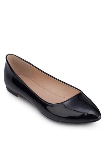 漆面尖頭平底鞋, 女zalora taiwan 時尚購物網鞋, 芭蕾平底鞋