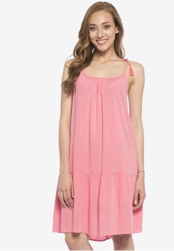 LC Waikiki pink Rope Strap Dress 6471DAA7FBB34AGS_1