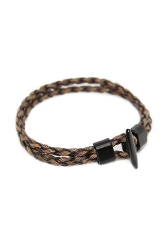 Elfi Brown Simple Hook Uni Fashion Leather Bracelet Lb24 B3282acaaa7fcegs 1