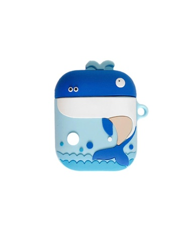 Kings Collection blue Blue Whale AirPods Case (KCAC2069) C81DFACF471A2CGS_1