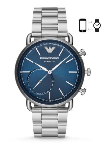 Emporio Armani silver Aviator Analog Smartwatch ART3028 0EC79AC5A0422CGS_1