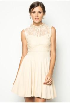 High Neck Pearl Dress