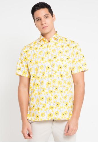 Guy Laroche yellow Short Sleeves GU709AA0VUSMID_1