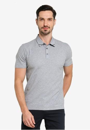 G2000 grey Woven Collar Polo Shirt 1CFA5AAB9DBEFEGS_1