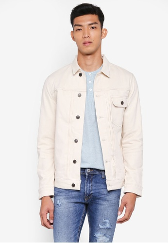 Jack & Jones beige 790 Denim Jacket 2285CAACF6CFA6GS_1