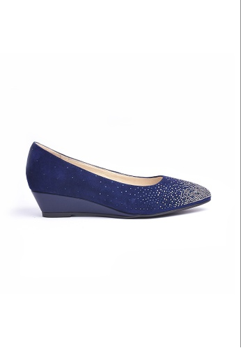 Elisa Litz blue Jaylin Wedges Blue EL365SH0GMANSG_1