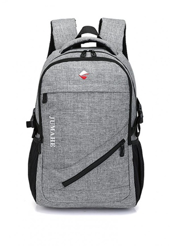Lucky JX grey R.A Men's Korean Style Backpack 6F432AC8F55F55GS_1