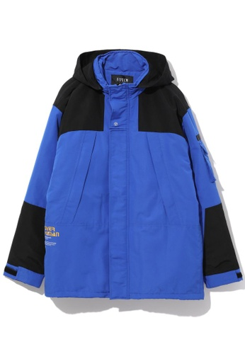 Fivecm navy Over Human hooded jacket 4A226AAE21F4FCGS_1