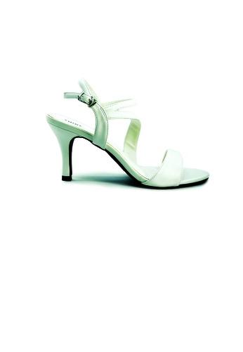 SHINE white Strapy Slingback Sandal Heels SH554SH0GE7YSG_1