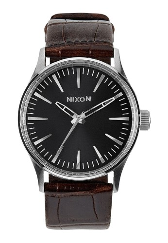 Nixon brown SENTRY 38 LEATHER BROWN GATOR NI855AC55OHSSG_1