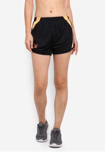 FBT black and orange Running Shorts 67789AAAFE8686GS_1