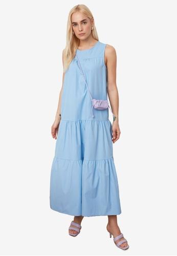 Trendyol blue Sleeveless Tiered Maxi Dress FC2A9AA654482DGS_1