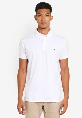 Jack Wills white Bampton Coloured Bird Polo Shirt 0120EAA6BFF6BDGS_1