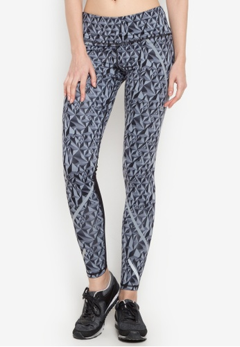 Champion black Run Marathon Tight-Prints F15 U5r CH632AA0KDA0PH_1