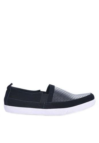 Sogno black Sepatu Slip On Casual GHS 017 F5C05SH9390FF5GS_1