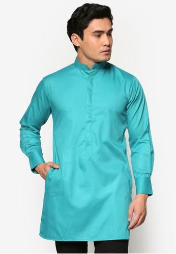 Murzaman blue Kurta Amin MU501AA39DKEMY_1