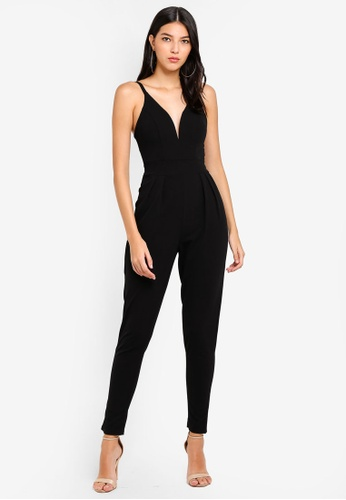 3823575a4cb3 Buy WALG Thin Strap Plunge Neck Jumpsuit Online on ZALORA Singapore