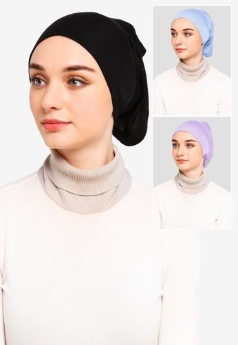 Najjah black and blue and purple Inner Headband Pack 5FD78AAC74EC87GS_1