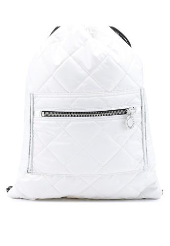 La Fille Des Fleurs white Nebula Space Backpack EAE28AC4DE6C49GS_1