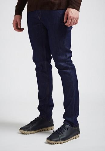 百搭esprit香港分店休閒。合身素面。彈力基本牛仔褲-02342-牛仔藍, 服飾, 直筒牛仔褲