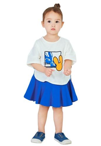 M.Latin blue Flare Short Skirt 65D1FKA554F377GS_1
